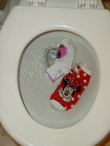 Toys in the toilet