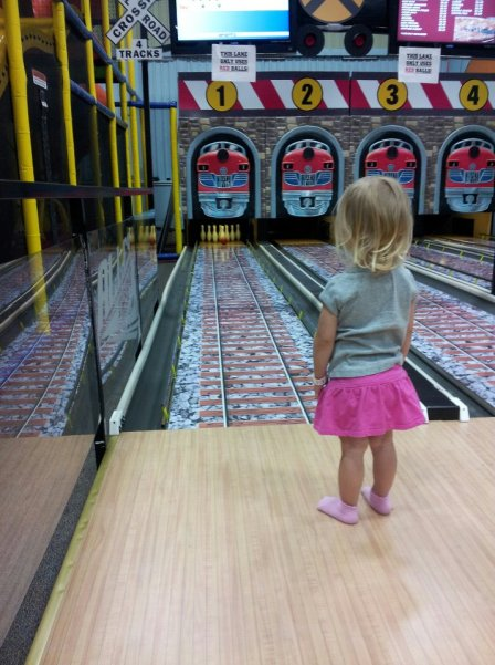 Bowling at Kidsport!