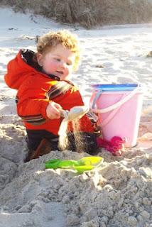Jack on beach