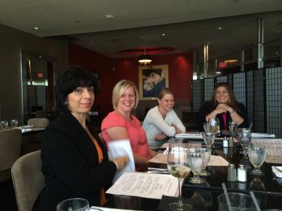 Lorraine McGrath, Director of Marketing at Signature Healthcare with SIgnature Mom BloggersTanya Pimental, Rachel Ventura & Heather Desmond O'Neill