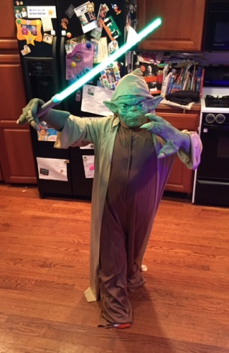 Heather's son on Halloween