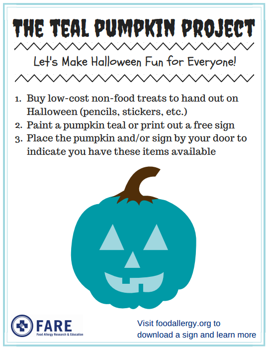 This is a picture of Crush Teal Pumpkin Printable