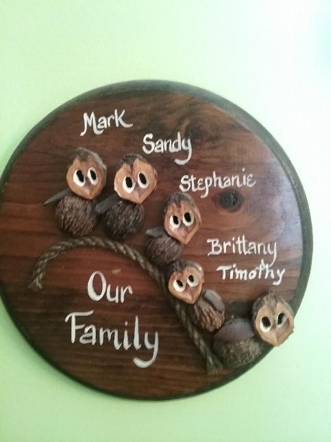 family owl plaque